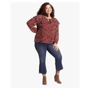 KFTK high rise Stella flare jeans